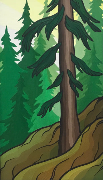 Pines, Warm Original Painting