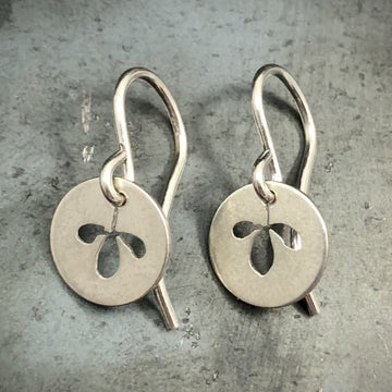 Earrings - Disk with Sprig