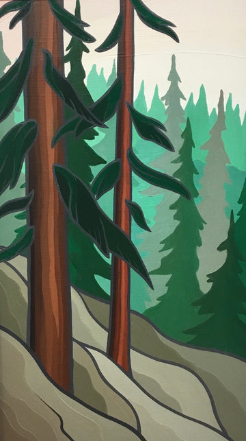Pines, Cool Original Painting