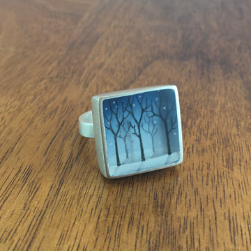 Snowy Forest Ring