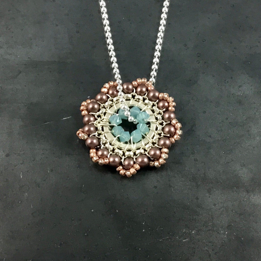 Bloom Necklace - Rose Gold, Gray, Blue
