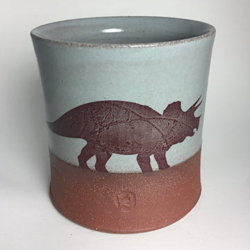 Cup - Triceratops- Blue/Gray