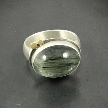 Tourmalated Quartz Ring