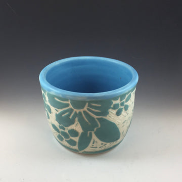 Blue Flower Cup