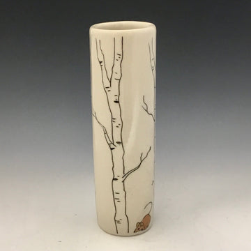 Small Vase with Mishima Aspen and Mouse