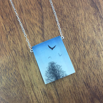 Birds Over Trees Necklace