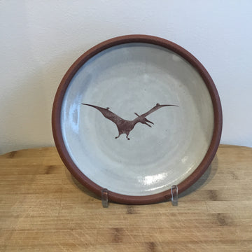 Small Plate - Pterodactyl - White