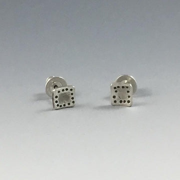Square Hammered Post Earrings