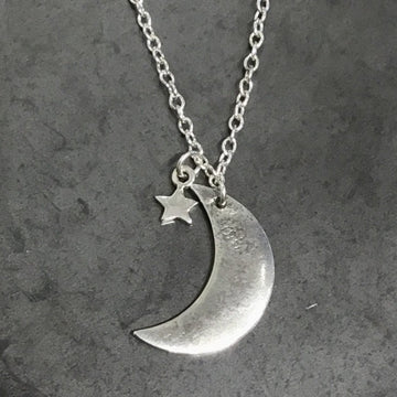 Necklace - Reticulated Moon with Star
