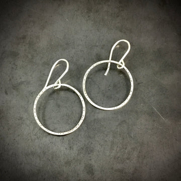 Stamped Circle Earrings