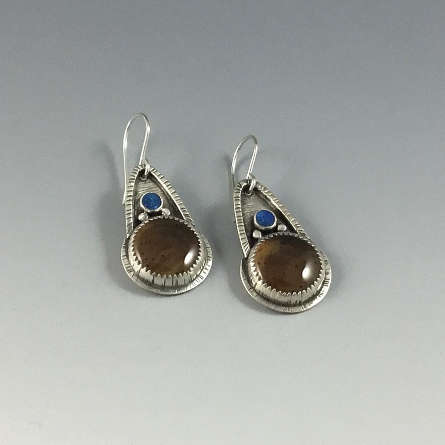 Montana Agate & Australian Opal Earrings