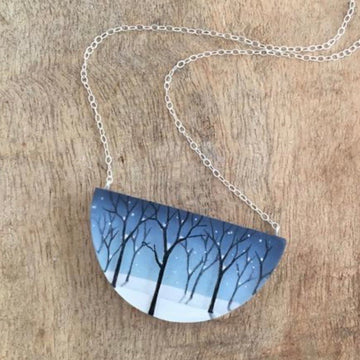 Snowy Forest Necklace