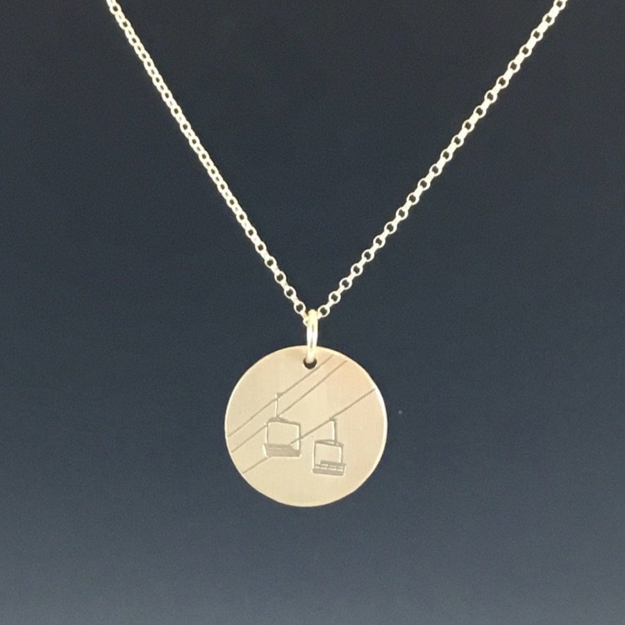 Chairlift Necklace - gold