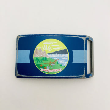 Montana State Flag Belt Buckle