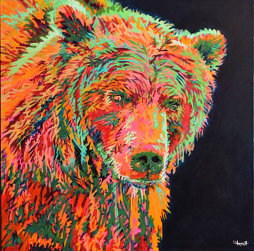 Mission Mountain Mama Bear original painting