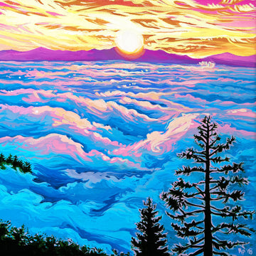 Mt. Tam Sunrise Original Painting