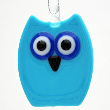 Owl Ornament - Blue