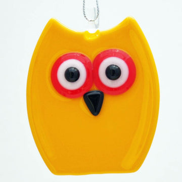 Owl Ornament - Yellow