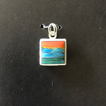 Square Pendant - Mountains