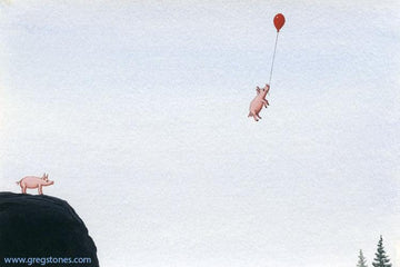 2 Pigs, 1 Balloon