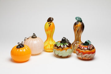 Glass Pumpkins and Gourds