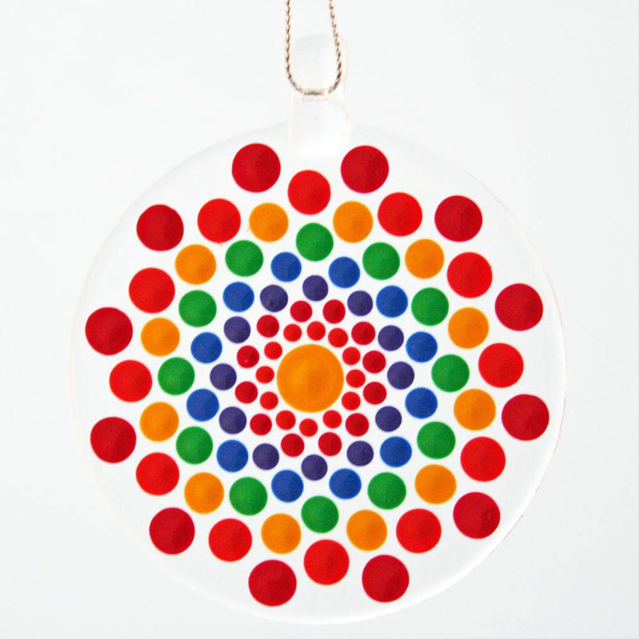 Mandala Ornament - Rainbow