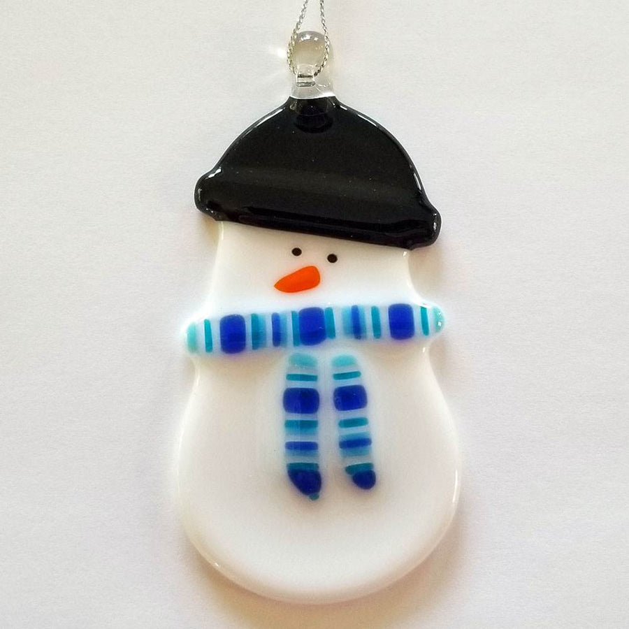 Snow Girl with Blue Scarf Ornament