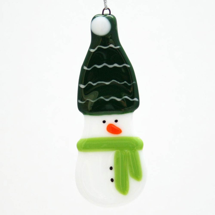 Snowman with Green Hat Ornament
