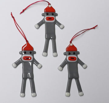 Sock Monkey Ornament
