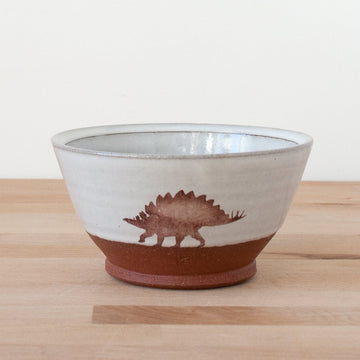 Bowl - Stegosaurus - White