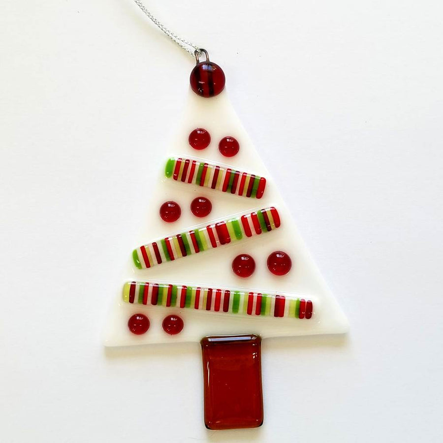 Stripes and Dots Tree Ornament