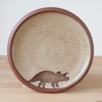 Small Plate - Triceratops - Yellow