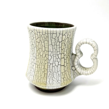 Striped Crackle Mug