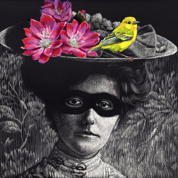 Woman, Masked with Warbler