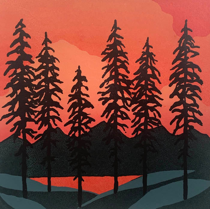 Sunset Pines - Serigraph
