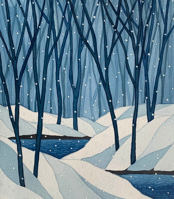 Winter Blue - Watercolor