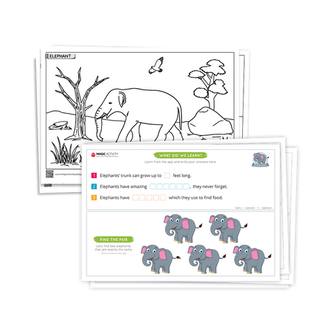 Safari Animals Coloring Book for Kids with 3D Augmented Reality