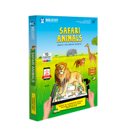 Safari Animals-Magic Coloring Book