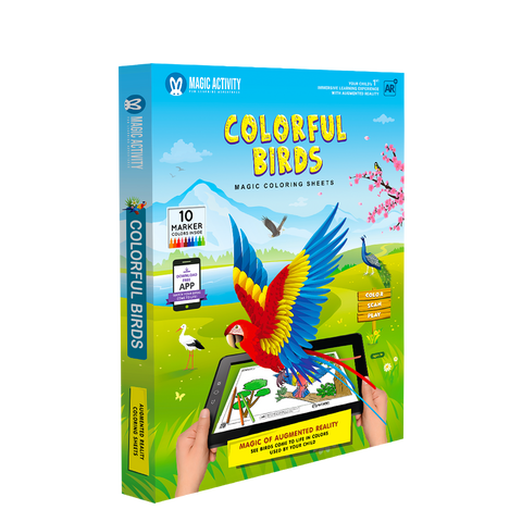 Colorful Birds Coloring Book for Kids with 3D Augmented Reality