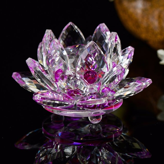 Crystal Lotus Crafts Glass Flower