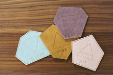 Leather Coasters - Earth - Air - Fire - Water - Gemstone Shapes
