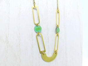 Limited Edition Brass Patina Necklace