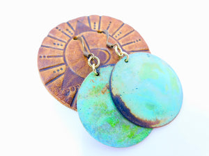 Limited Edition Brass Patina Earrings