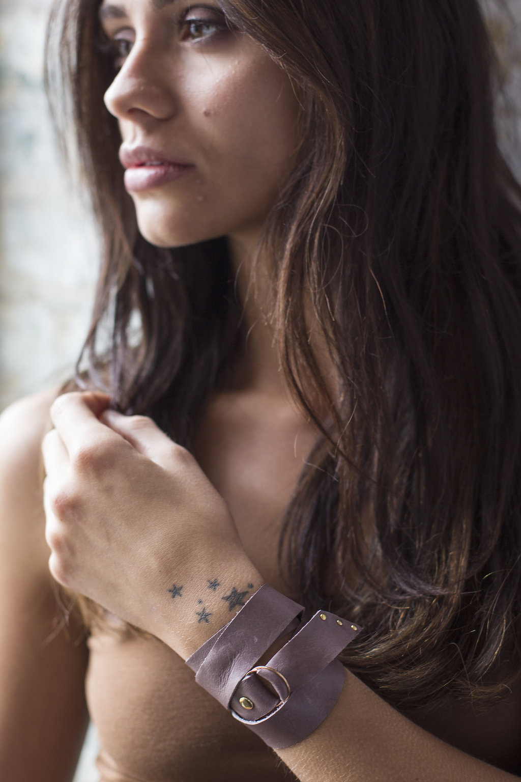 Leather Multi-Wrap Cuff Bracelet