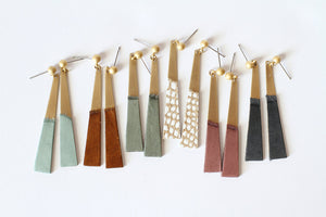 Leather Earrings - Leather Slim - 5 Pack