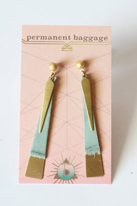 Leather Earrings - Leather Spike Slim - 5 Pack