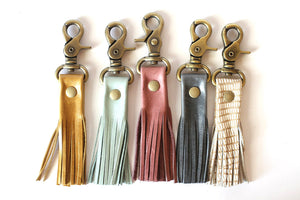 Leather Tassel Keychain -5 Pack