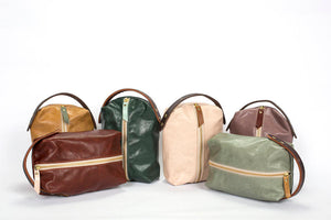 Leather Toiletry Bag - 5 Pack