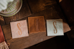 Leather Coasters - I love You More - 3rd Anniversary Gift - Ready To Ship