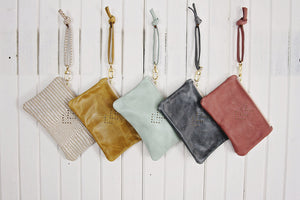 Mint Small Leather Wristlet - 5 Pack